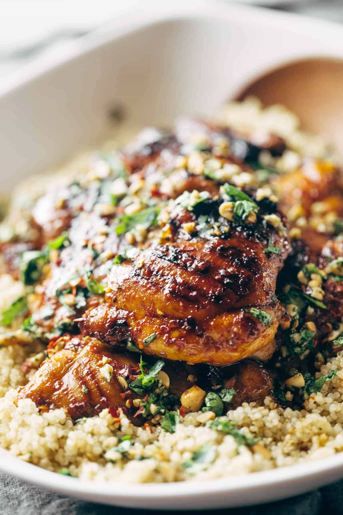 Spicy thai chicken and quinoa recipe pinch of yum spicy thai chicken and quinoa forumfinder Images