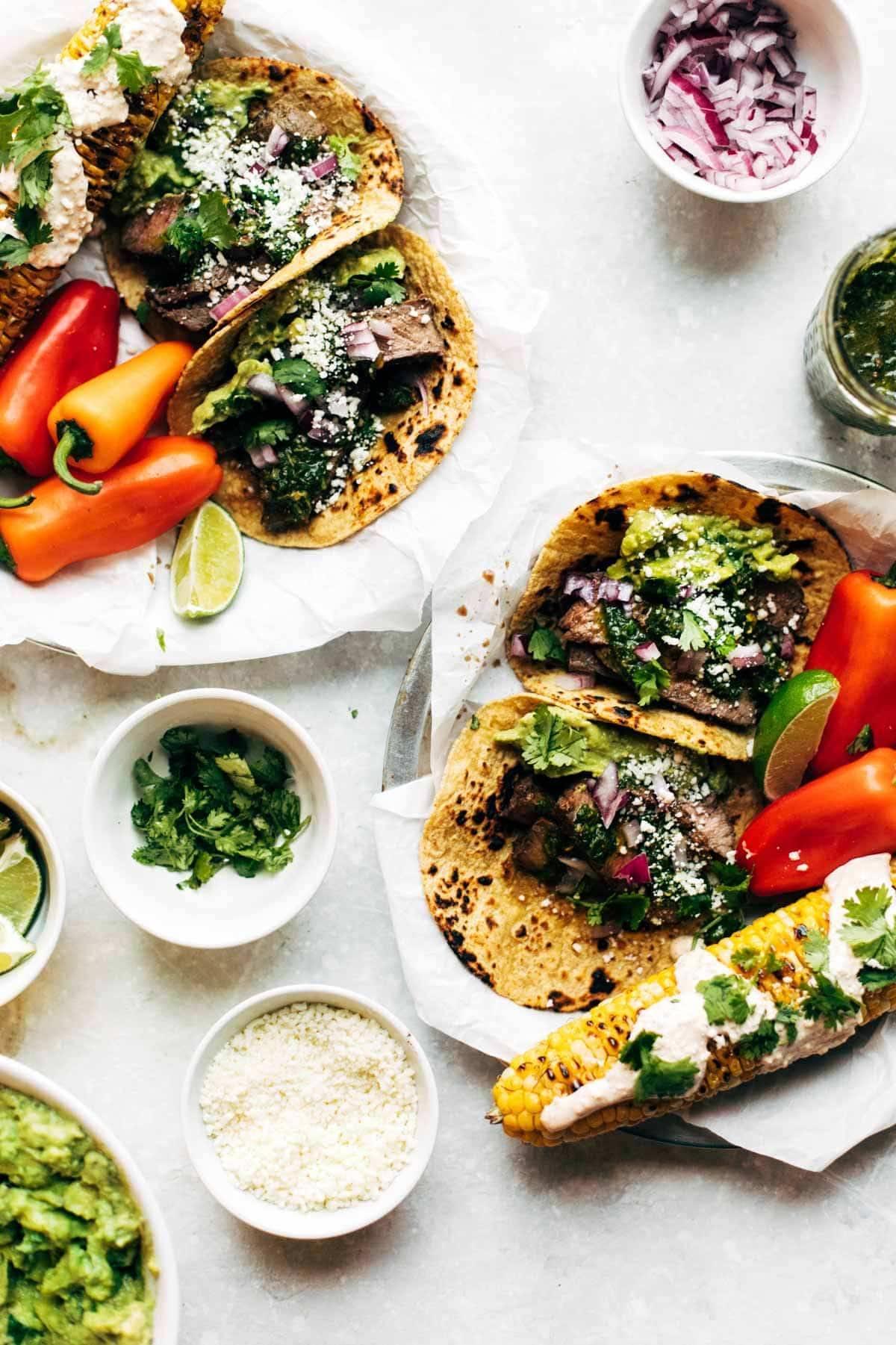 Chimichurri Steak Tacos.