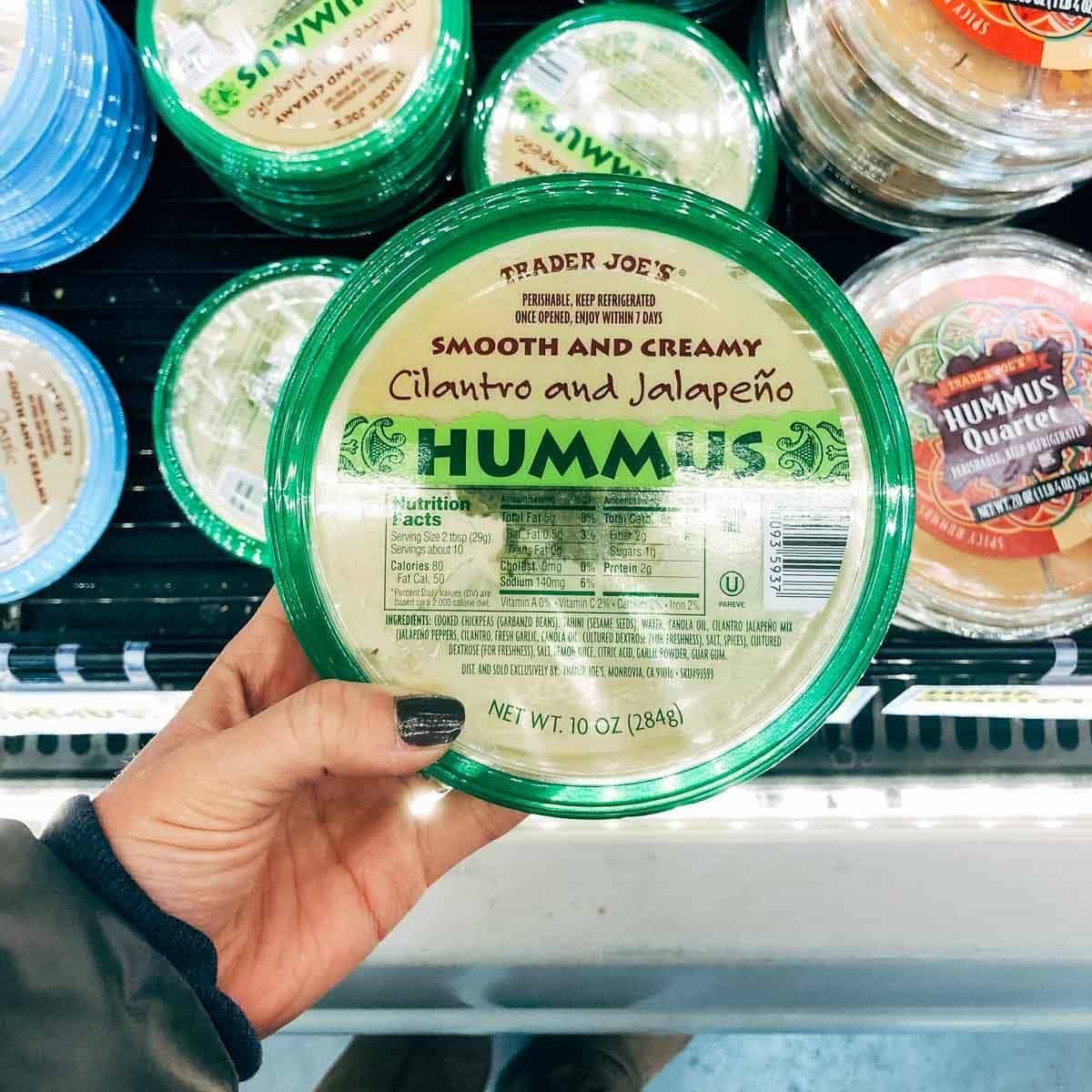 cilantro and jalapeno hummus