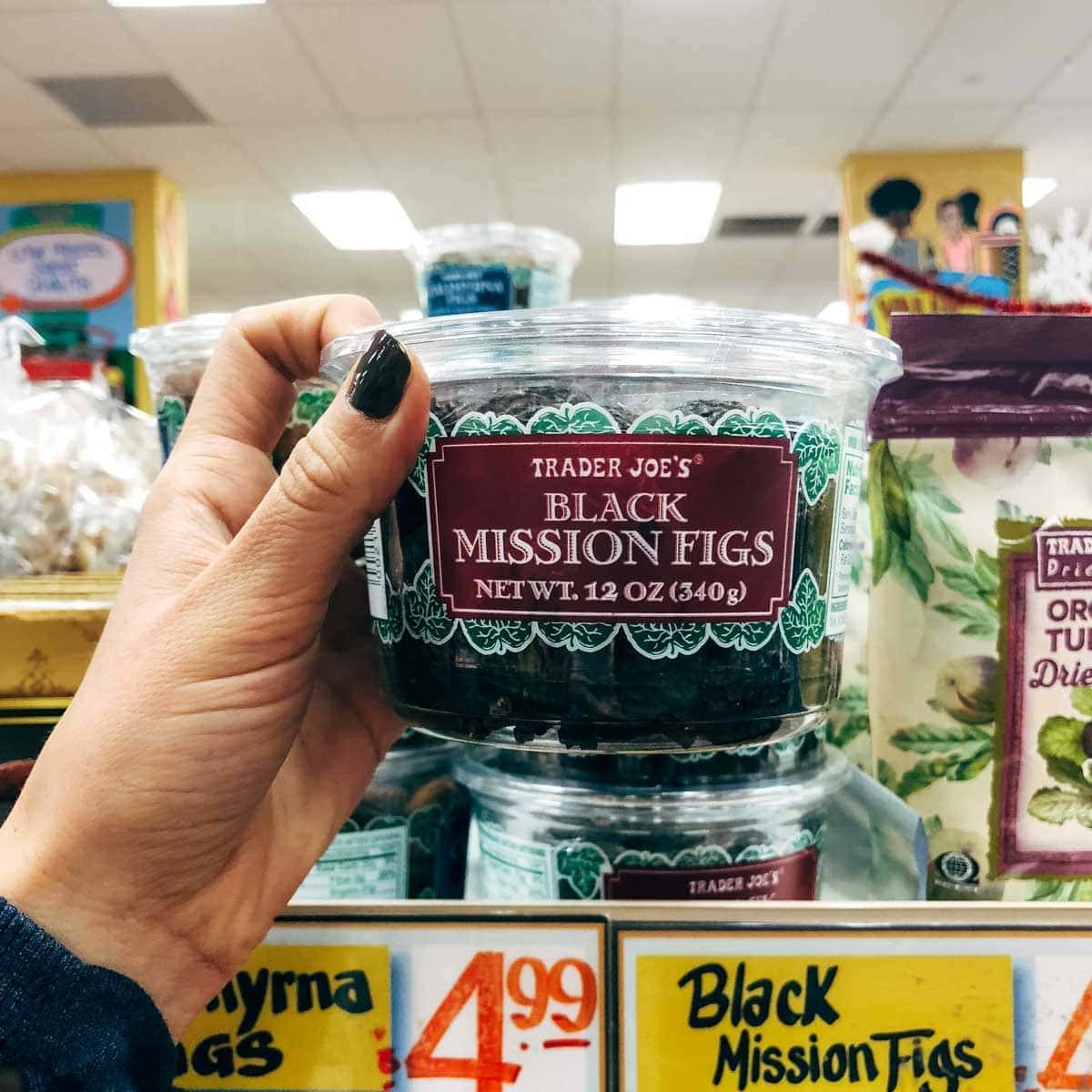 black mission figs in a container