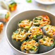 Thai Summer Rolls with Peanut Sauce
