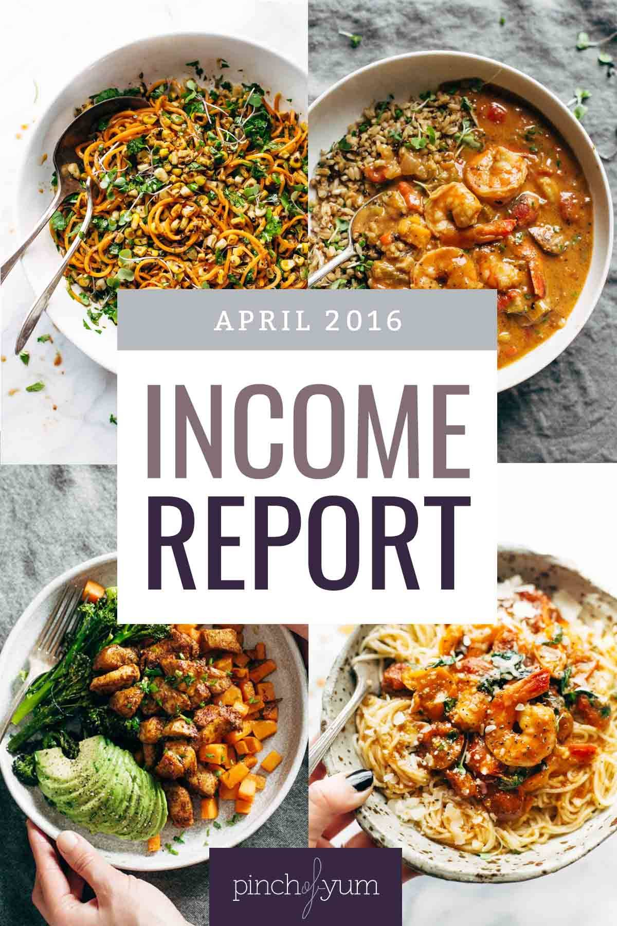 Traffic and Income Report April 2016 collage.