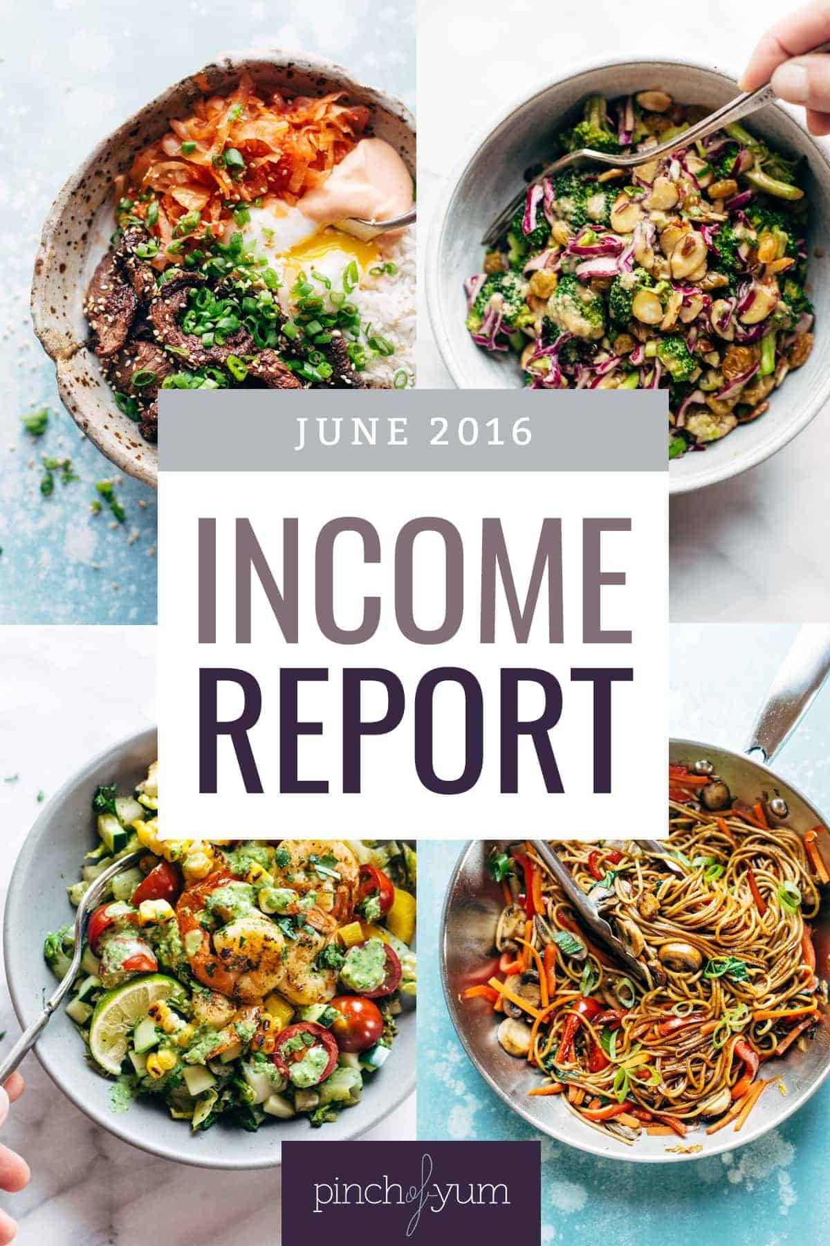 Traffic and Income Report for June 2016 collage.