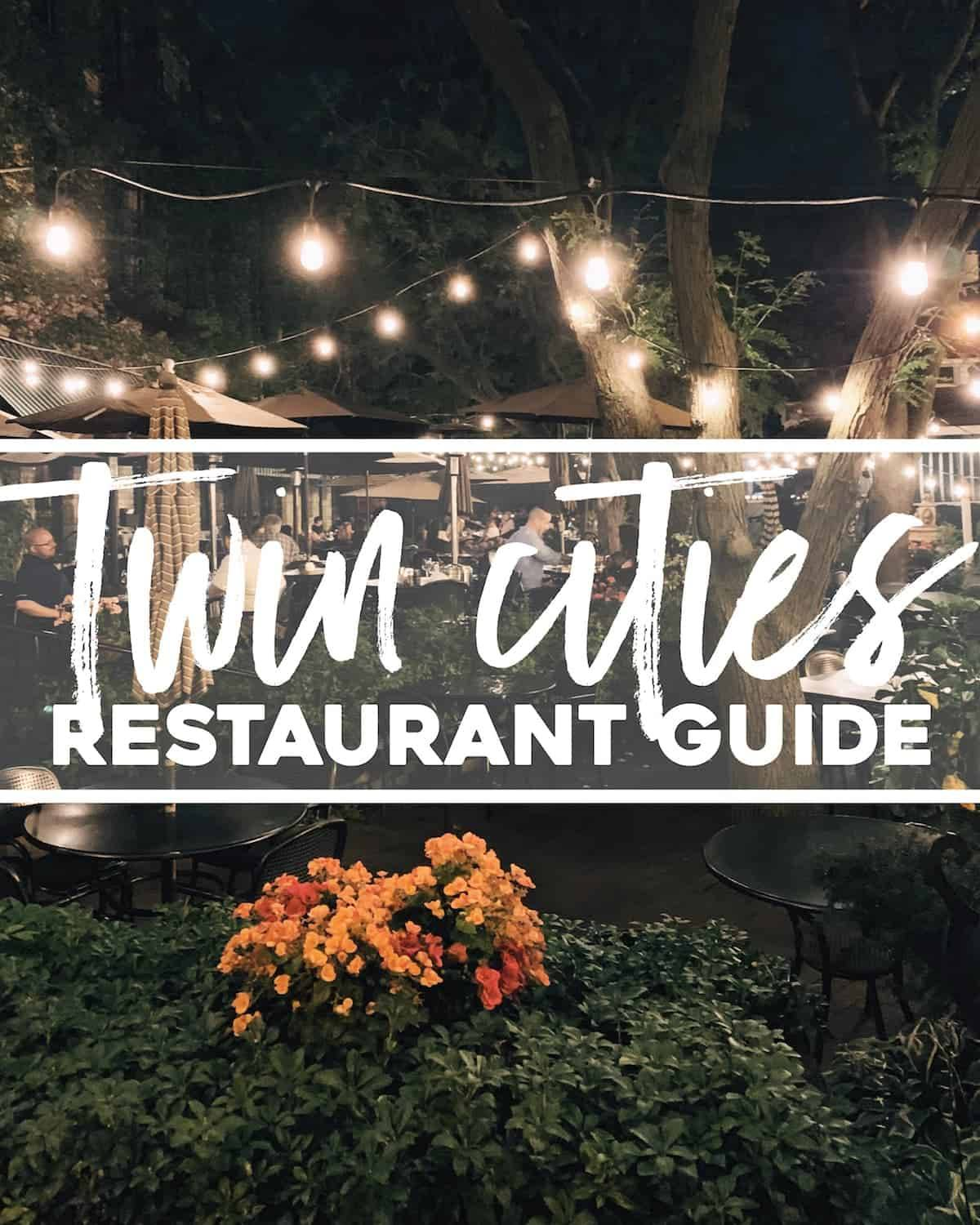 Twin Cities Restaurant Guide.