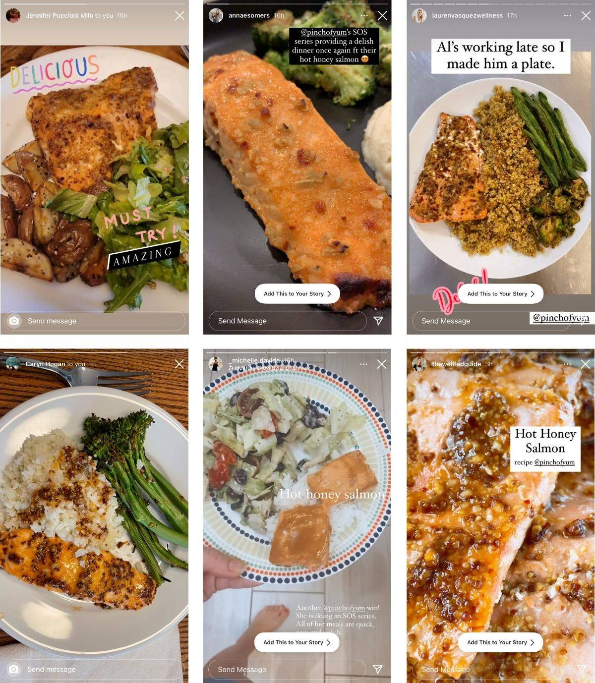 Reader images of the Hot Honey Salmon recipe.