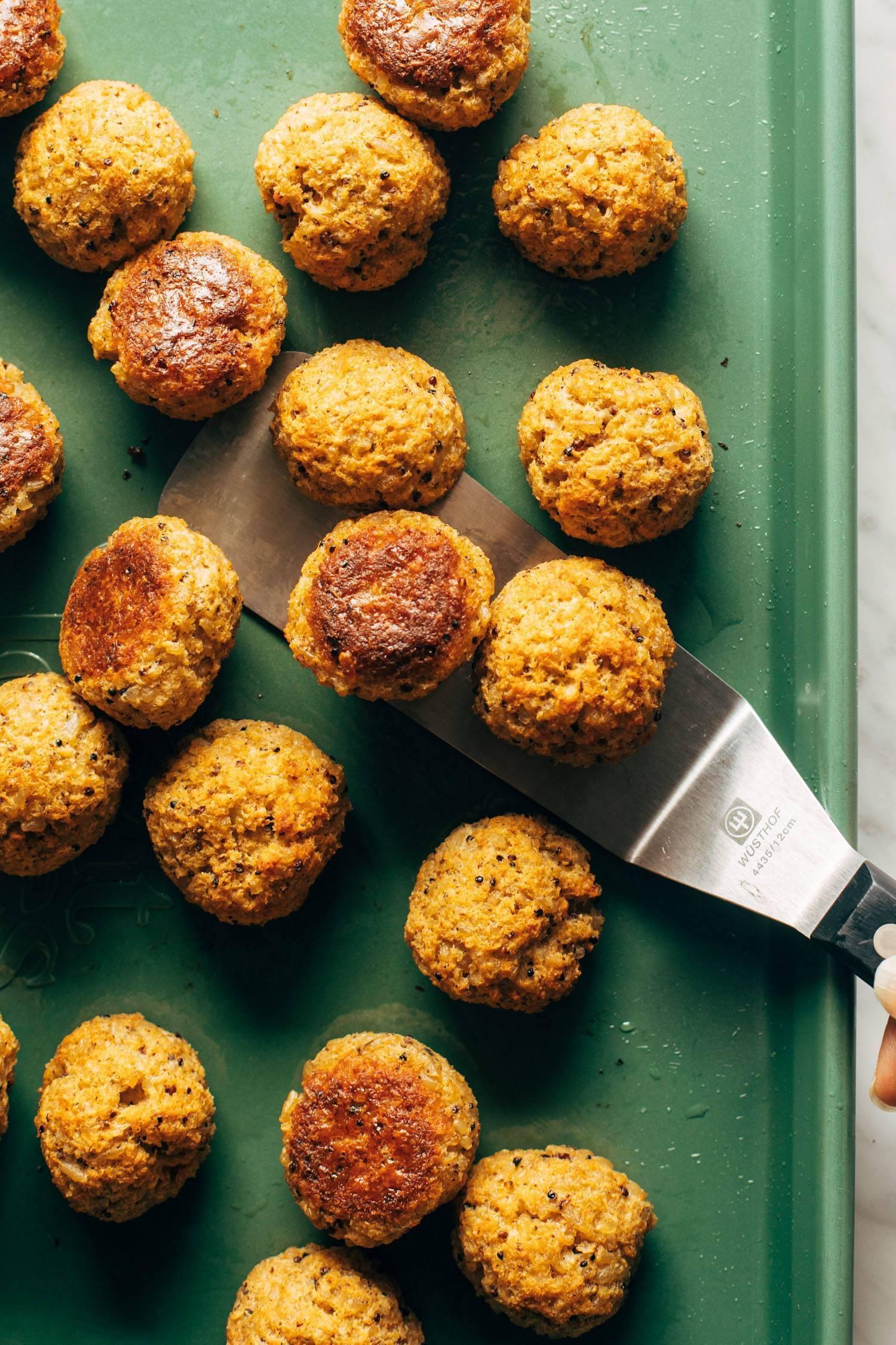 30 Minute Vegetarian Meatballs