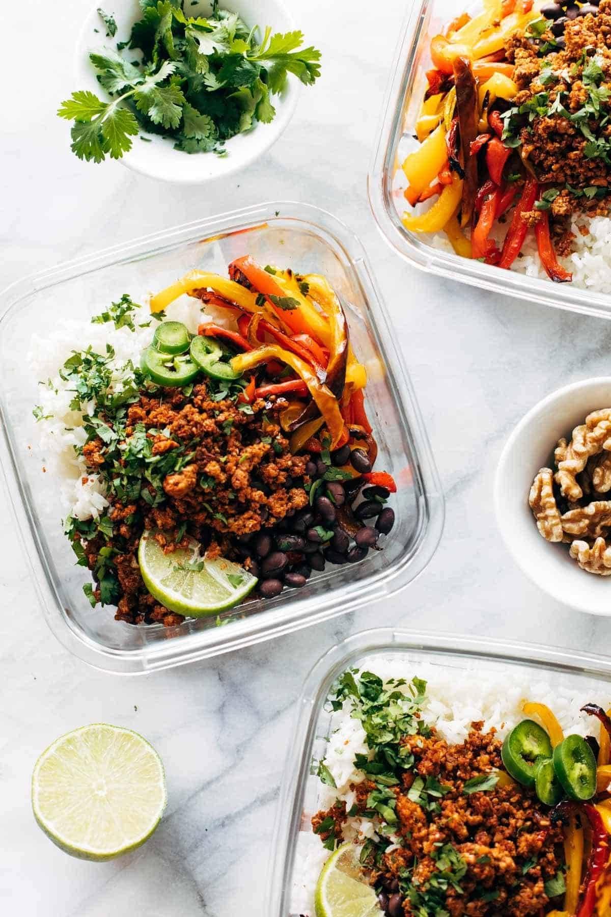 vegan burrito bowls, Pinch of Yum