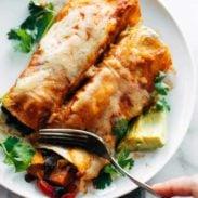 A picture of Easy Veggie Enchiladas