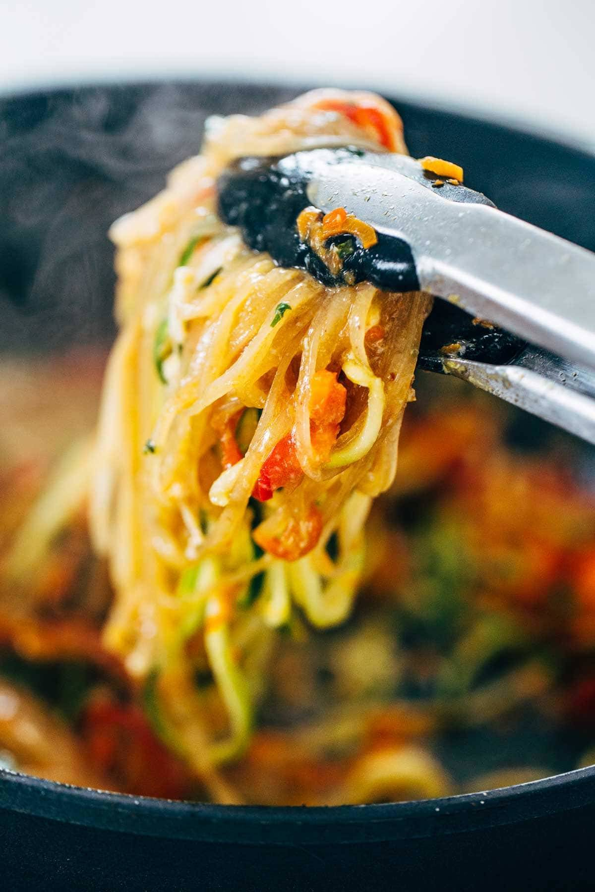 Pad Thai Noodles Close Up