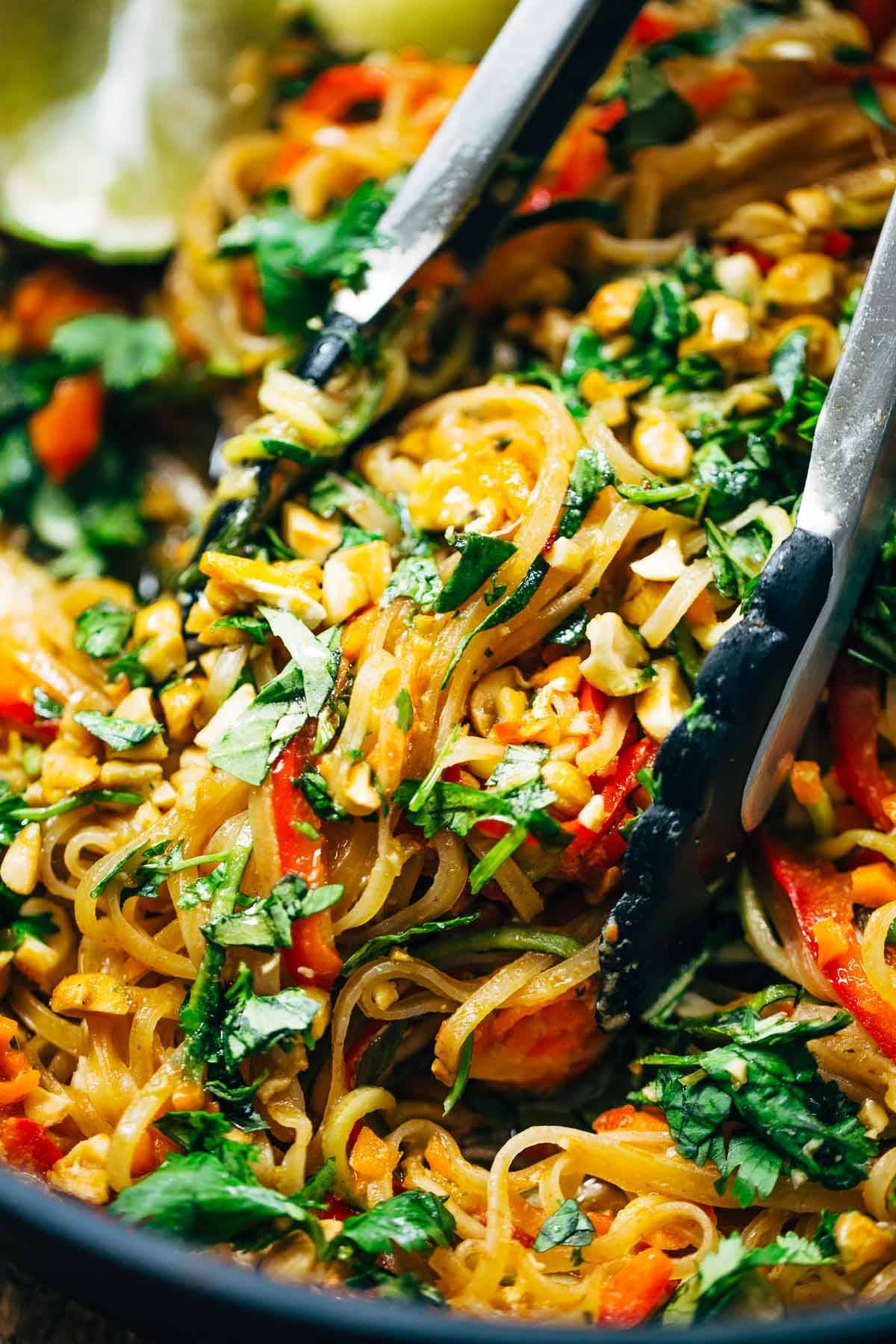 Rainbow Vegetarian Pad Thai - a fast and easy recipe that's adaptable ...