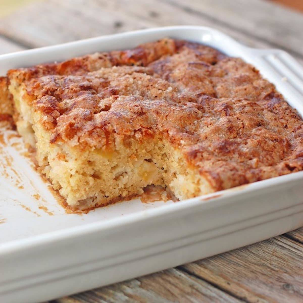 This Simple Cinnamon Sugar Apple Cake Is Light And Fluffy Loaded With Fresh Apples