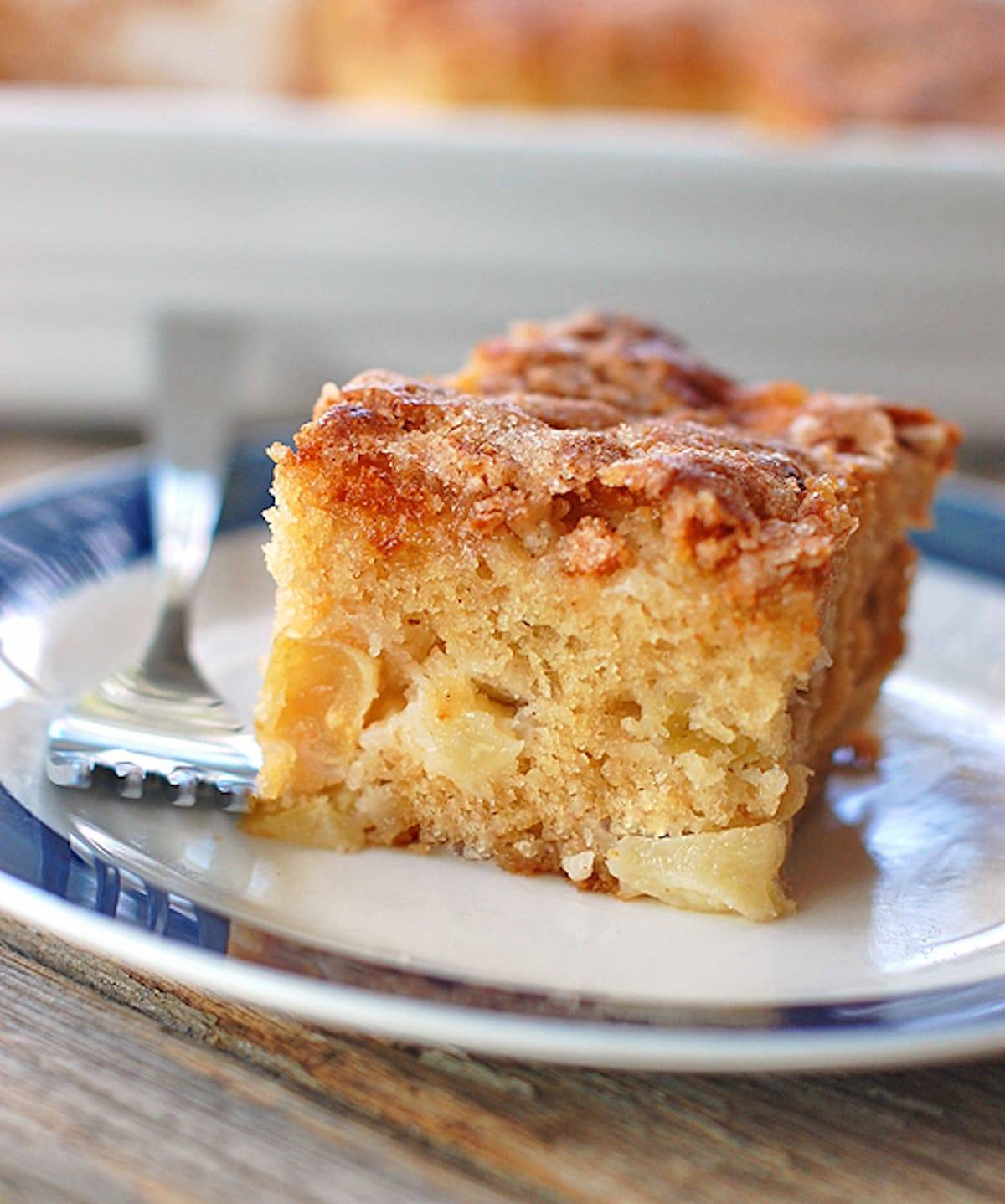 Cinnamon Sugar Apple Cake Recipe - Pinch of Yum