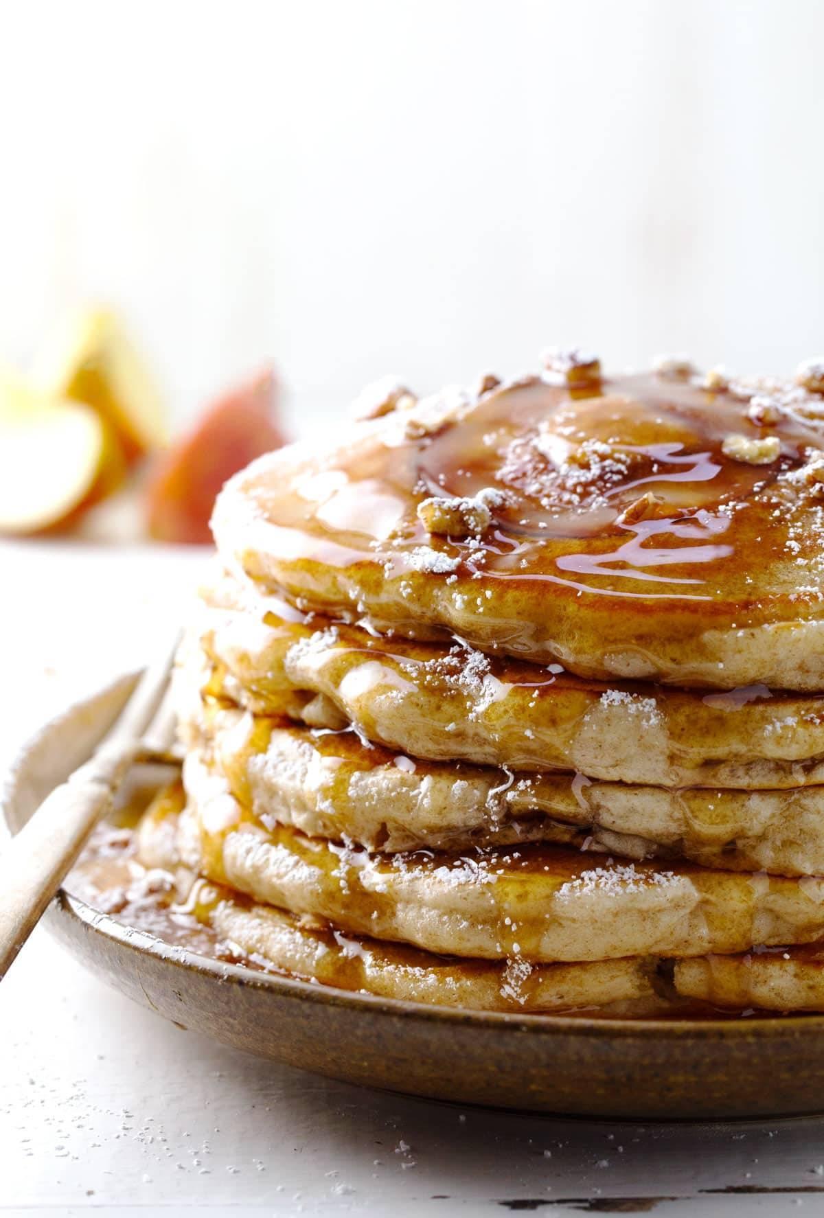 Whole Wheat Apple Cake Honey
