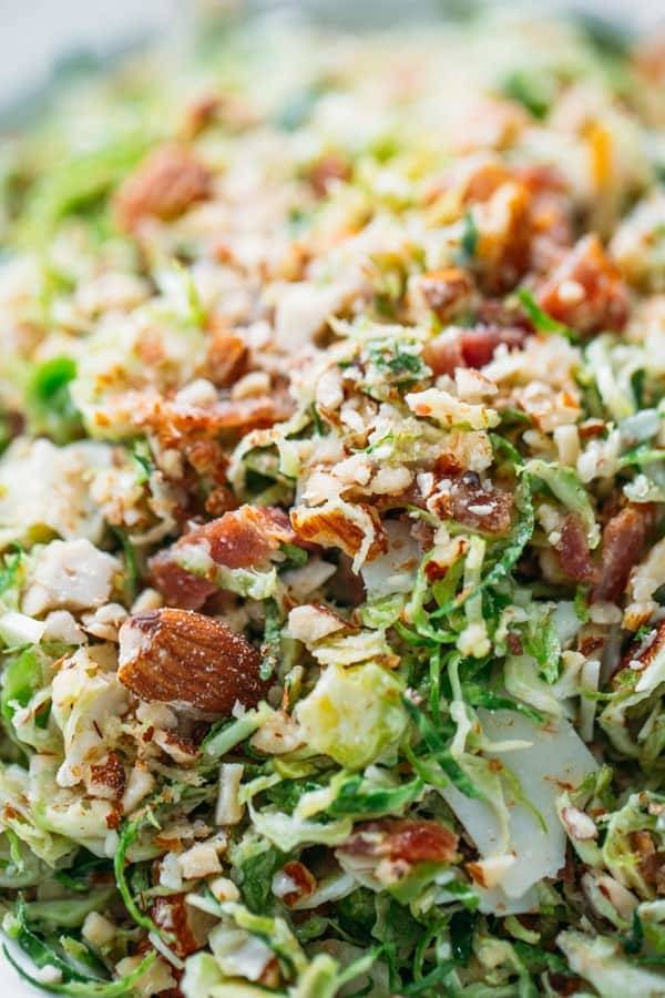 Close up of Bacon and Brussels Sprout Salad