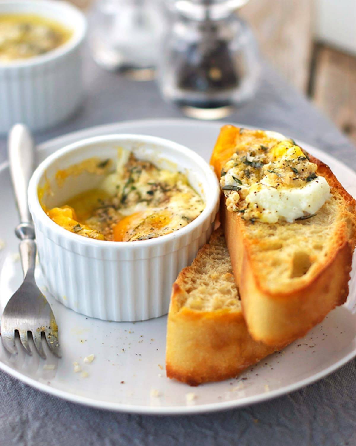 Parmesan Baked Eggs Recipe