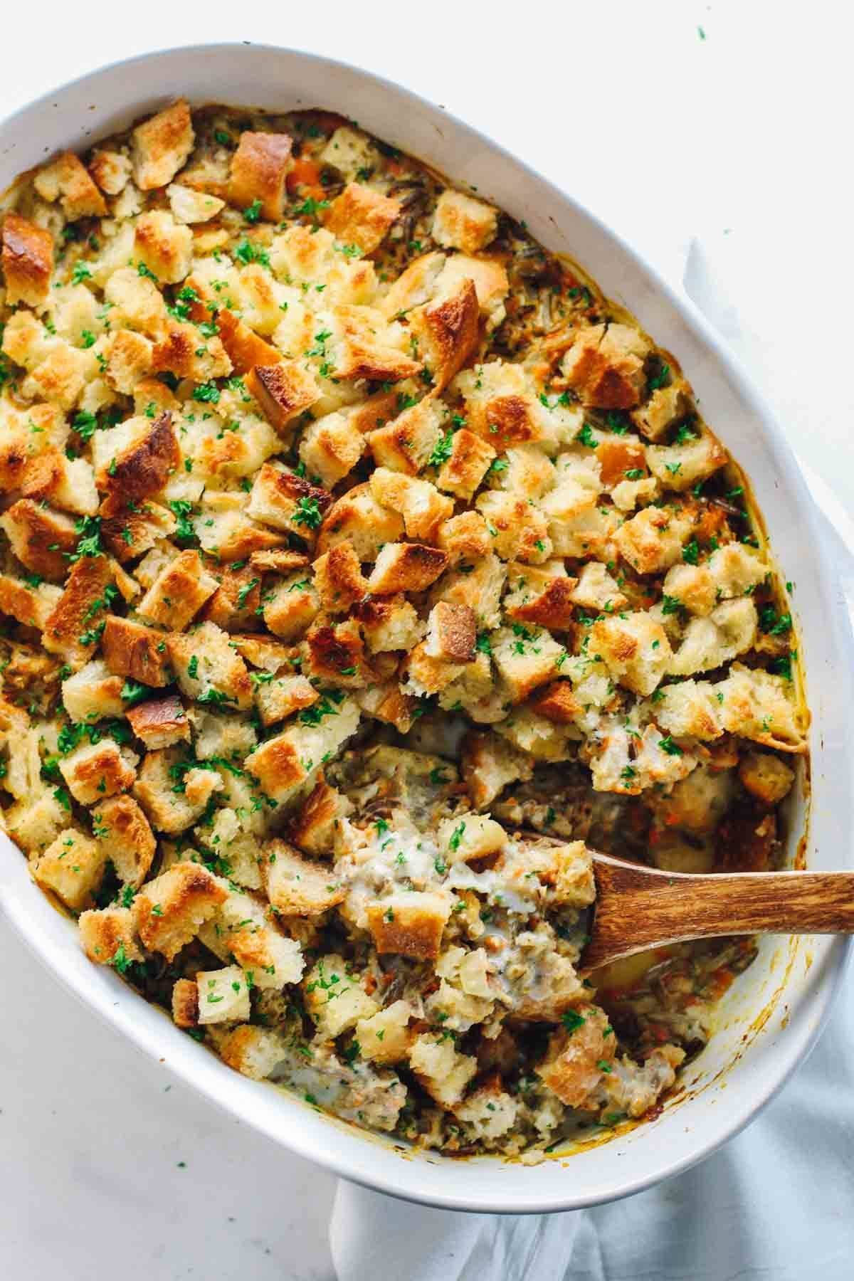 Chicken wild rice casserole recipe pinch of yum chicken wild rice casserole forumfinder Choice Image