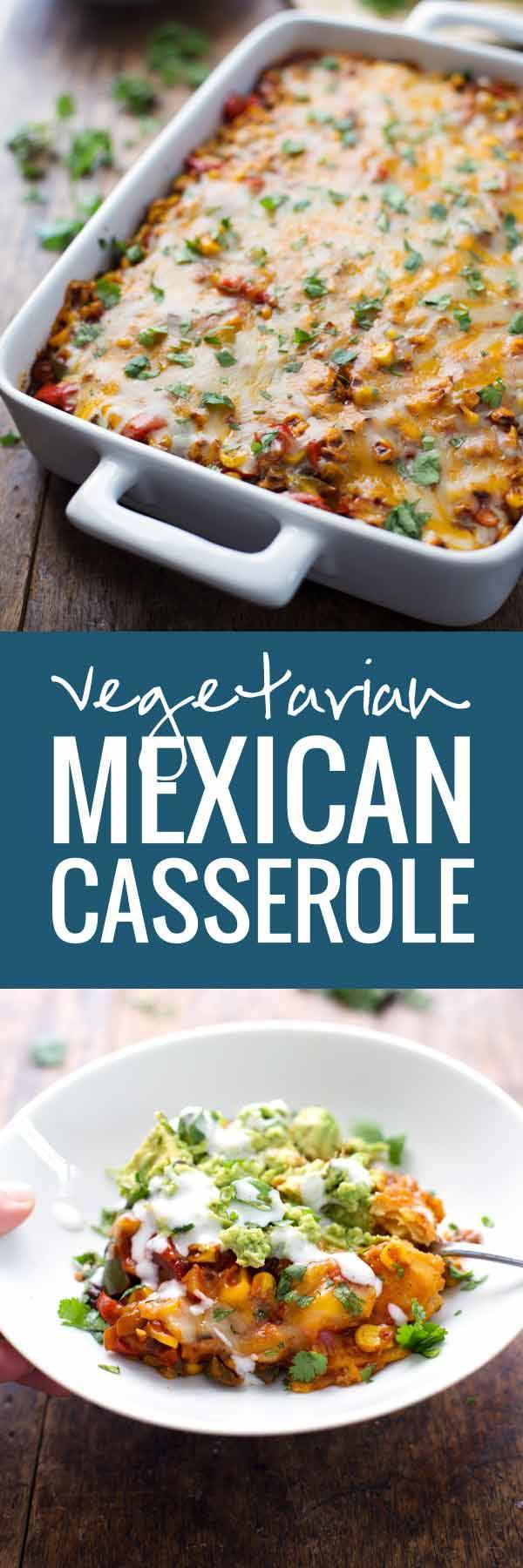 Healthy Mexican Casserole with Roasted Corn and Peppers Recipe ...