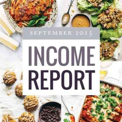 Traffic and Income Report from pinchofyum.com