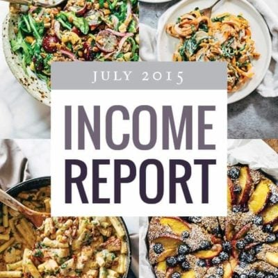 Pinch of Yum's Traffic and Income Report - July 2015 | pinchofyum.com