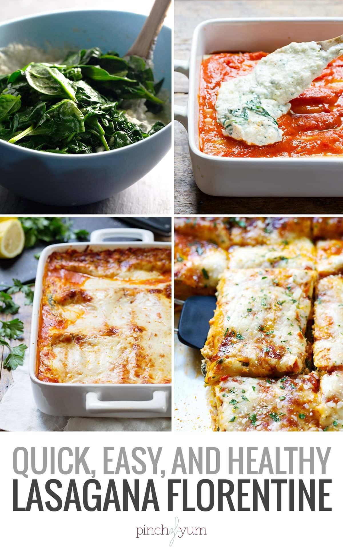 Tomato Lasagna Florentine making process.