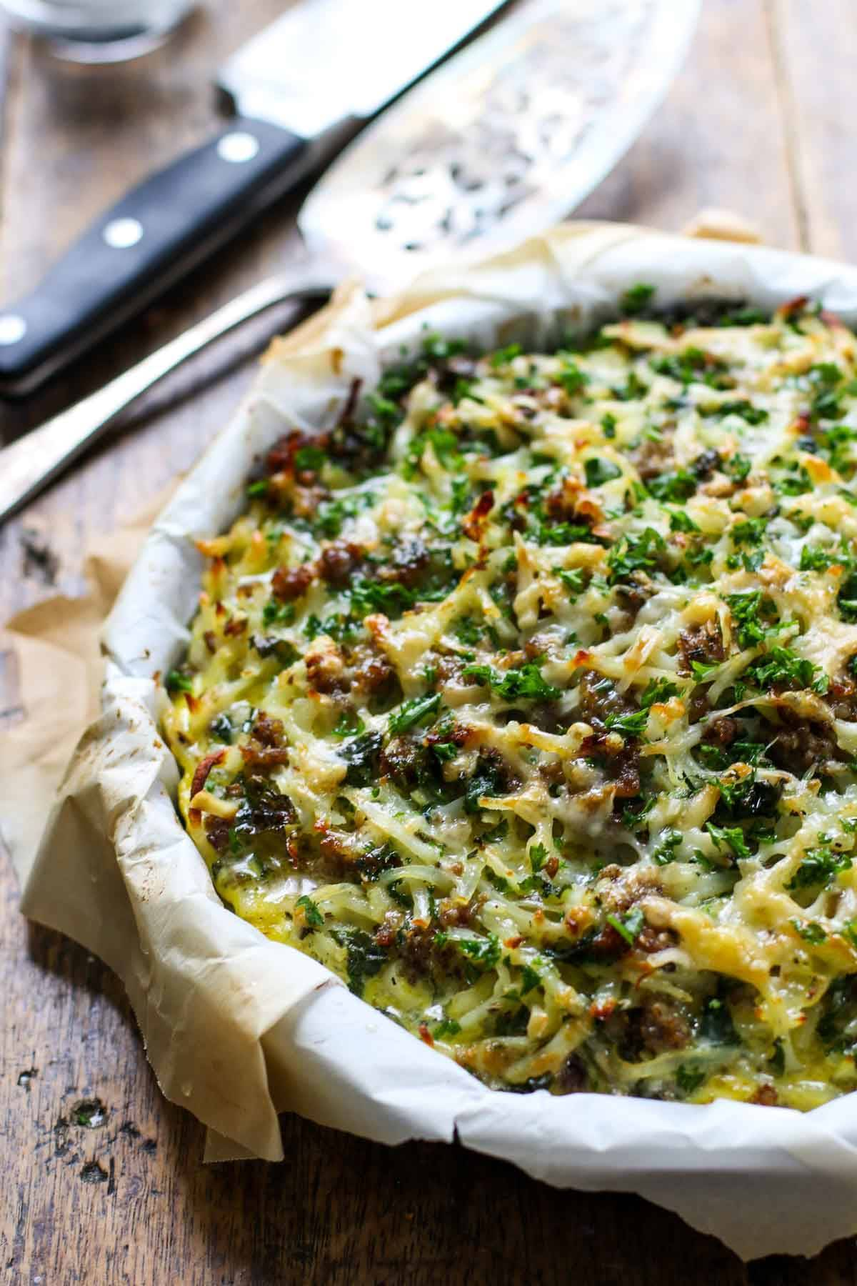 Sausage Potato Pie.