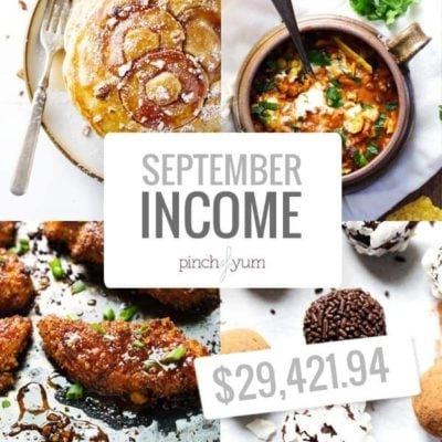 September Traffic and Income Report | pinchofyum.com