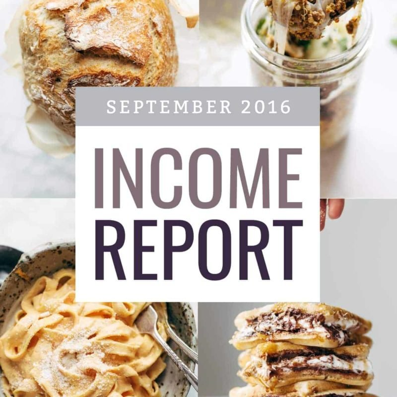 September Income Report - Updating an Old Blog Post | pinchofyum.com