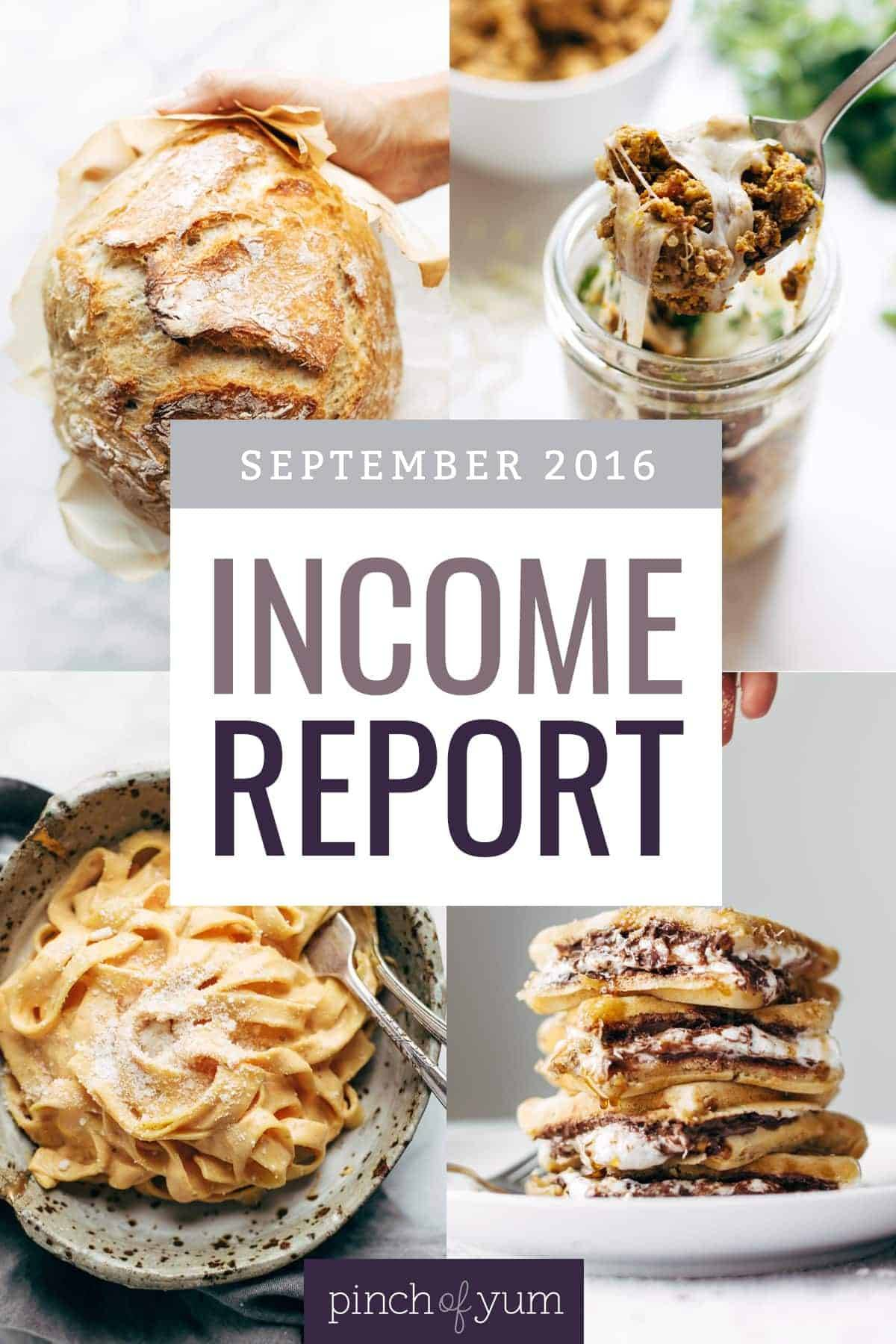 September Income Report - Updating an Old Blog Post collage of four images.