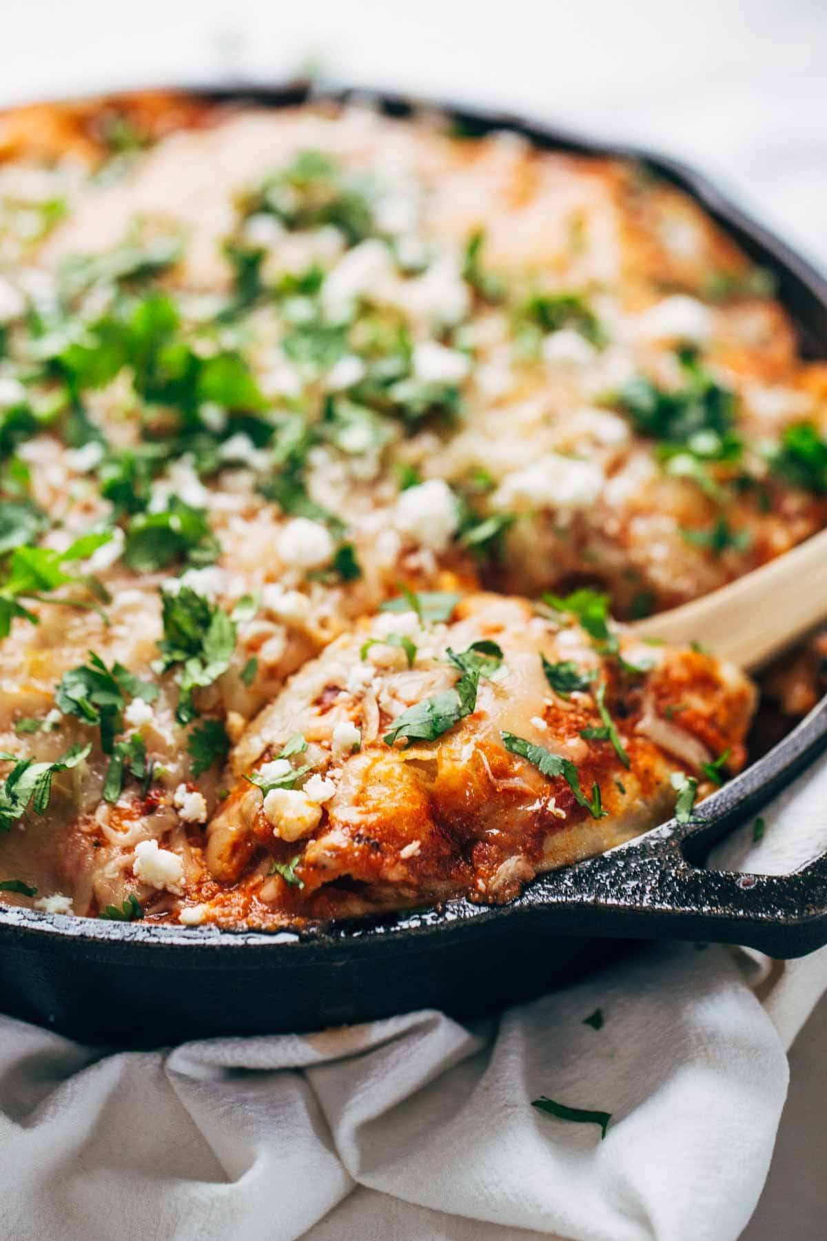 Skillet Chicken Tortilla Pie