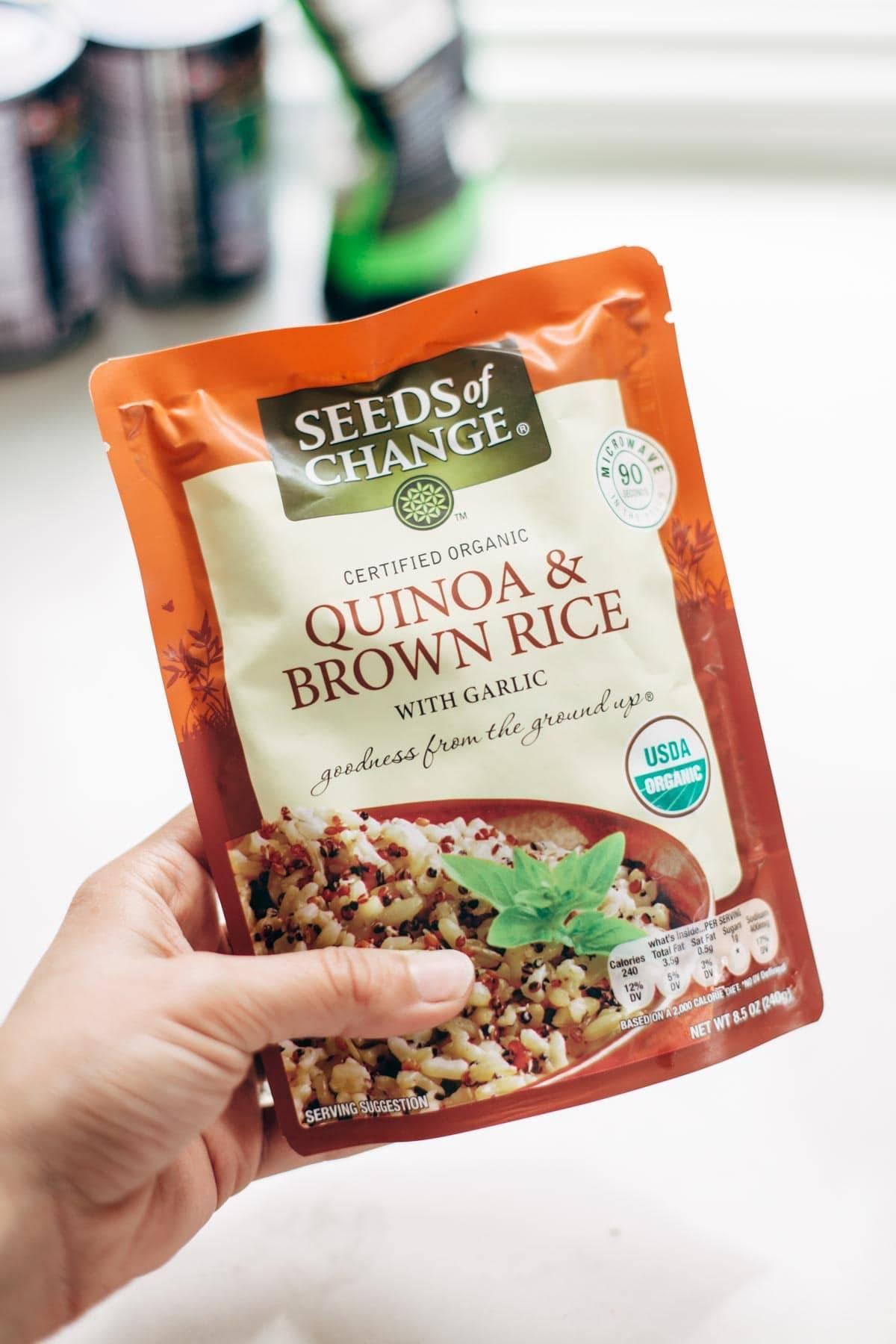 Seeds of Change for vegetarian meatballs | pinchofyum.com